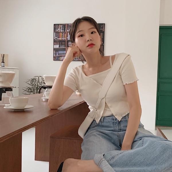 Peaches Short Sleeve Cardigan Set 針織外套