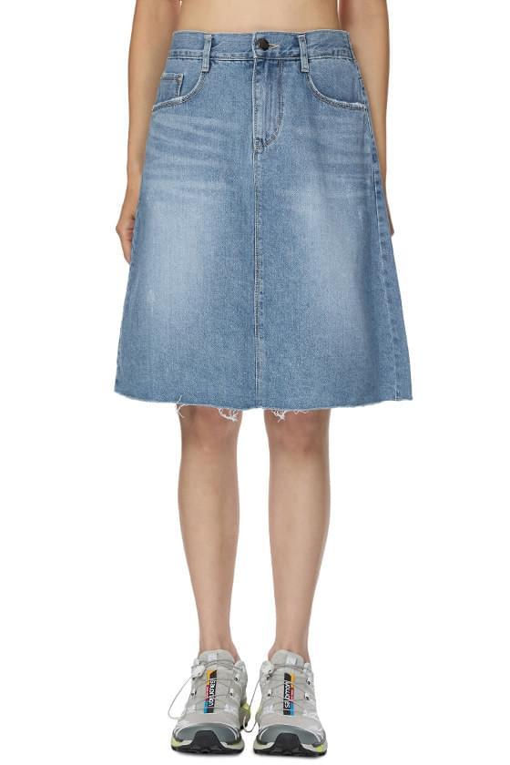 Four Seasons Denim Mid-Length Skirt