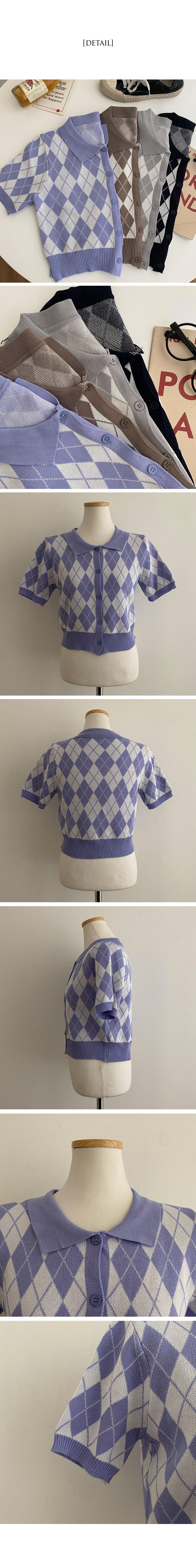 Ronnie Argyle Collar Short Sleeve Knitwear
