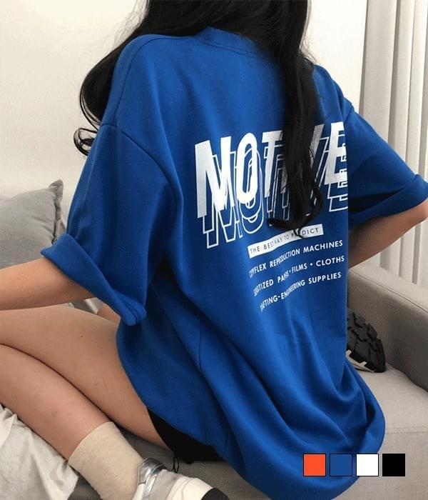 Motif Back Print Overfit Short Sleeve T-shirt