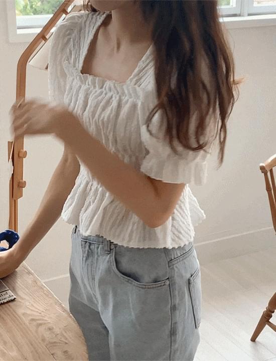 brooke shirring blouse