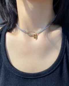 gold bar clip chain necklace