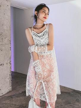 lace UL see-through Dress