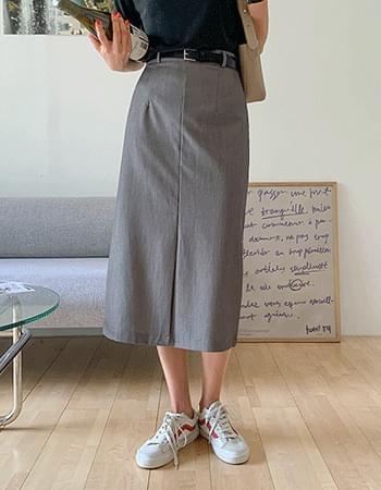 In the mood split long skirt
