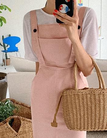 front slit overalls Dress
