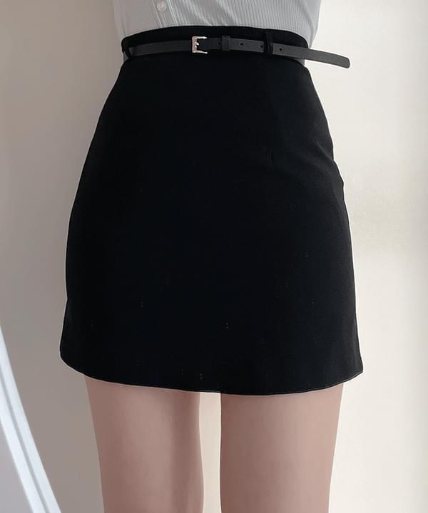 Wind H-line mini skirt 2color