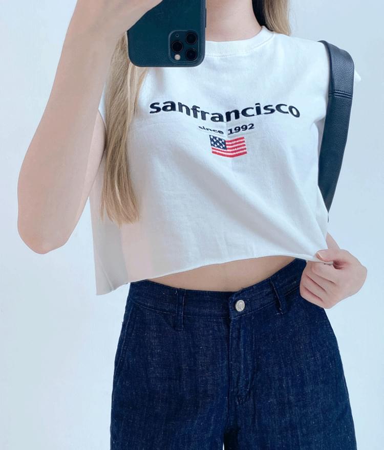 SAN FRANCISCO Print Crop T-Shirt