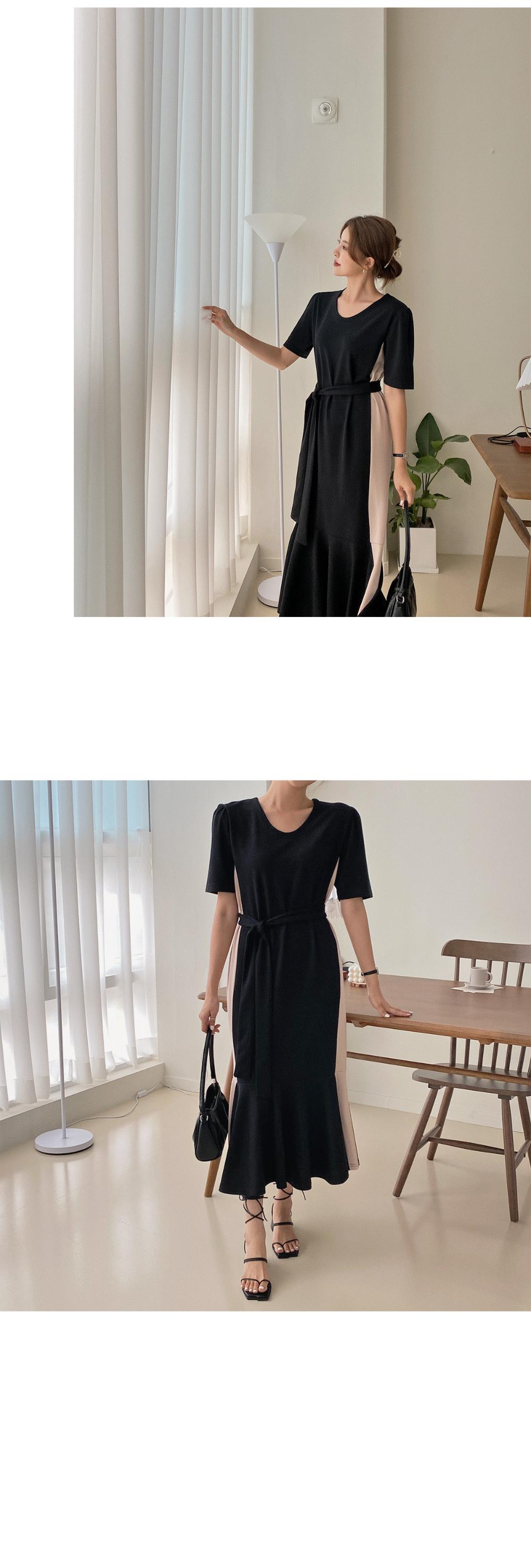 Minuet color matching Dress - 2color