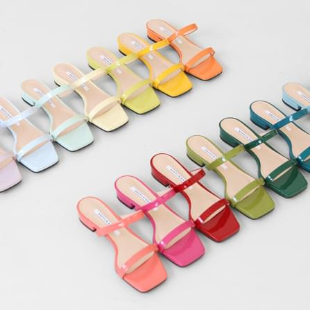 ponita two-strap mules slippers