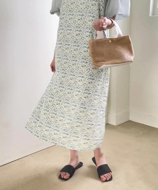 Big Size 55-120 Chemie Flower Dress Blouse Set
