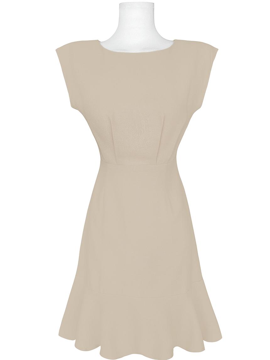 Short Sleeve Pintuck Ruffle Mini Mermaid Dress 2color