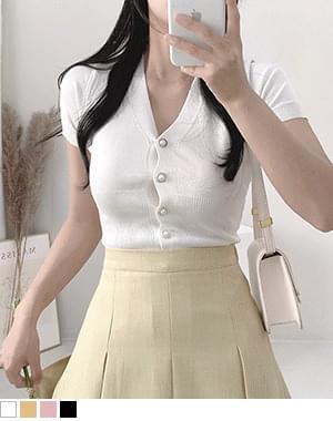 Mocker Pearl Button Knitwear Cardigan