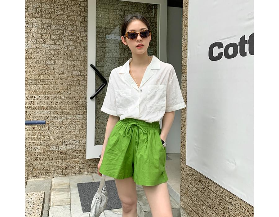 Ice Pocket Collar Short Sleeve Shirt 襯衫