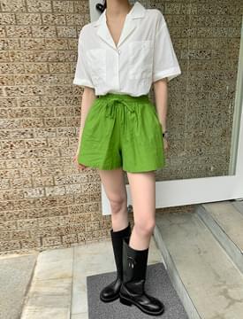 Palette Linen Banding Shorts