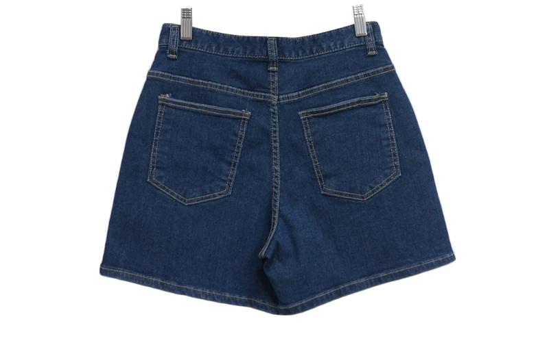 Stitched Spandex 4 Part Denim Pants