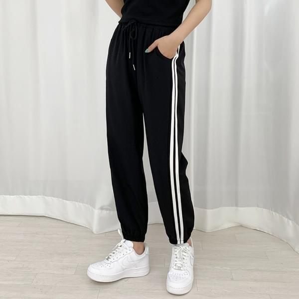 double row cooling jogger pants