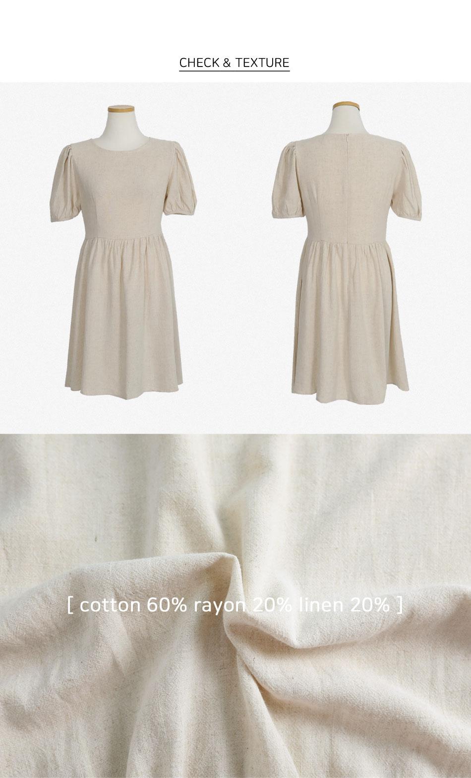 Recommended Moir Linen Dress for short girls