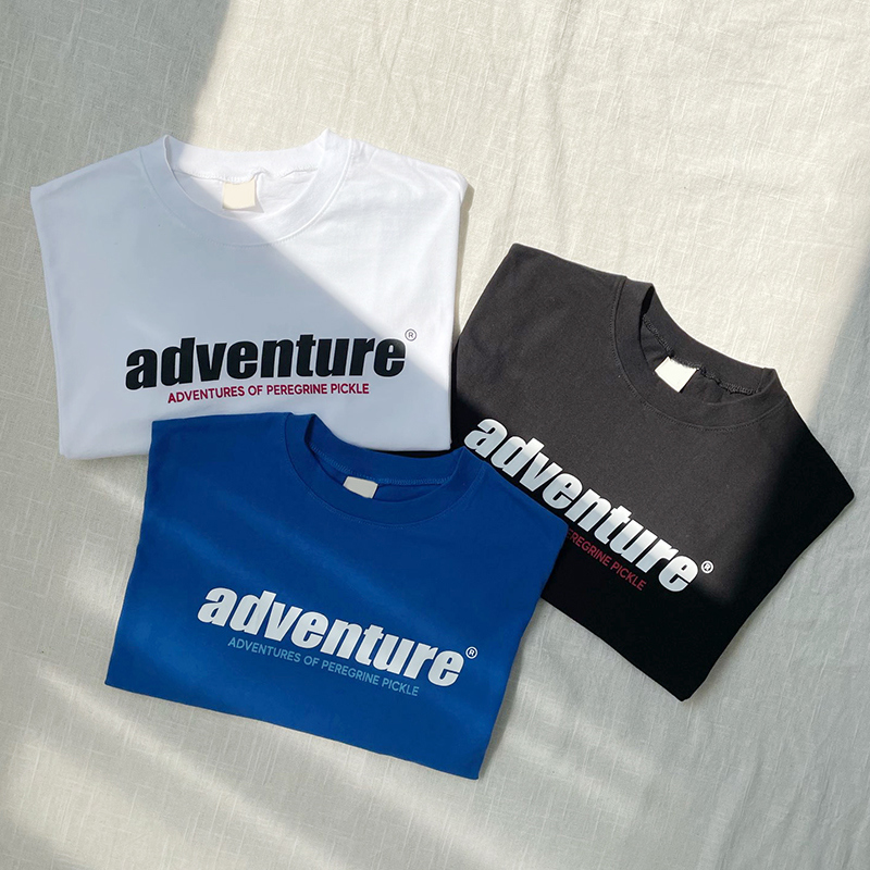 adventure lettering short sleeve tee