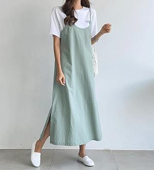 Sleeveless Split Dress #38024