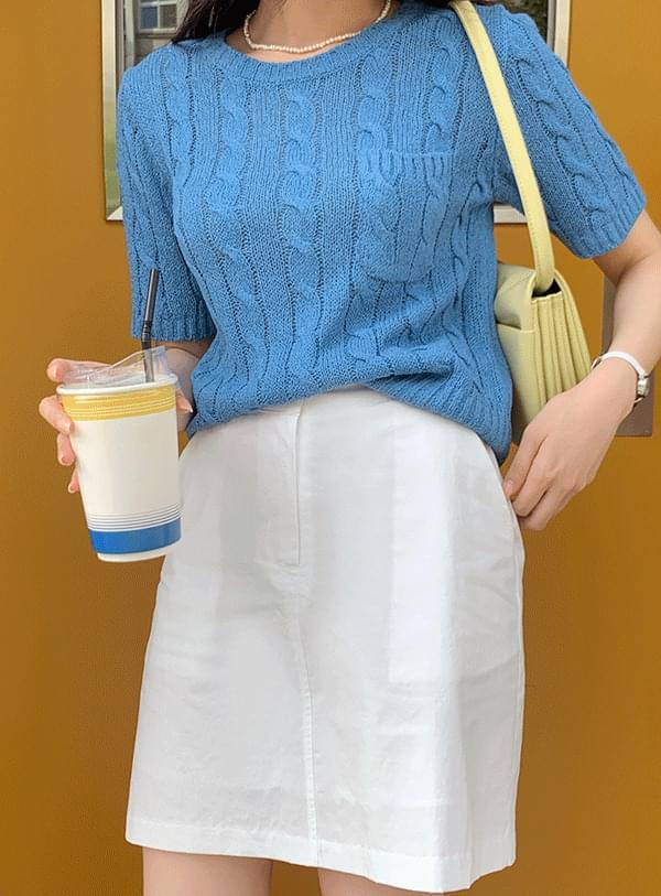 Pretzel Short Sleeve Knitwear