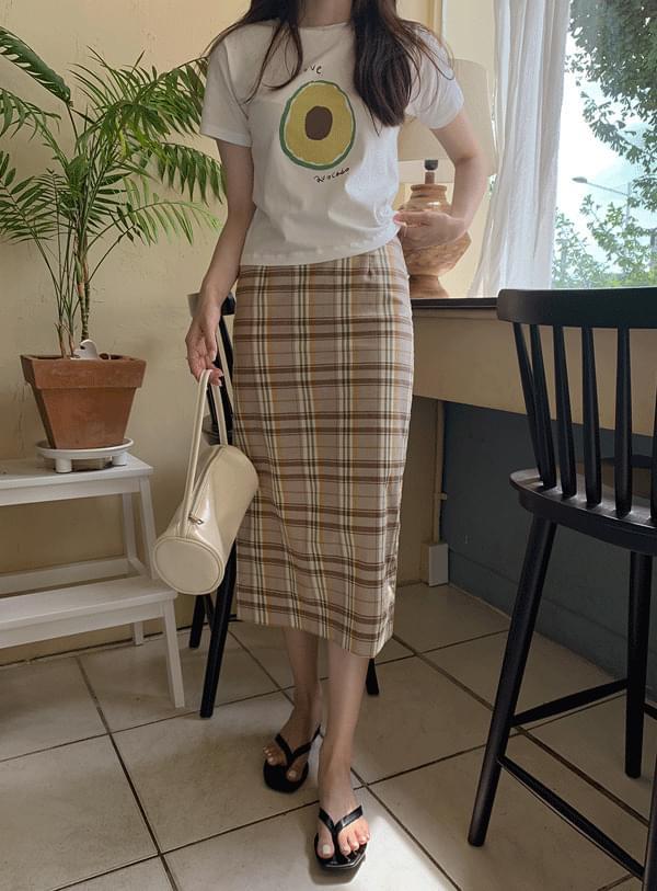 melvin check skirt