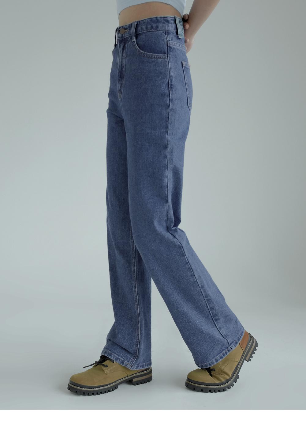 Phyllis Semi Wide Denim Pants