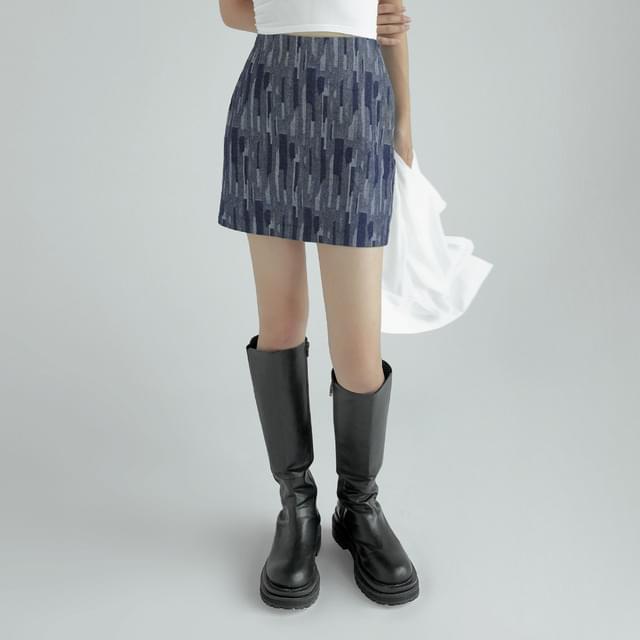 Humphrey herringbone denim skirt 裙子