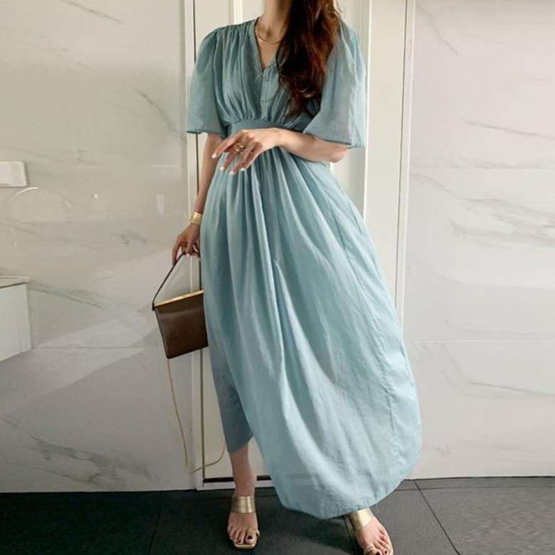 Yeori Sweet High Waist Long Dress