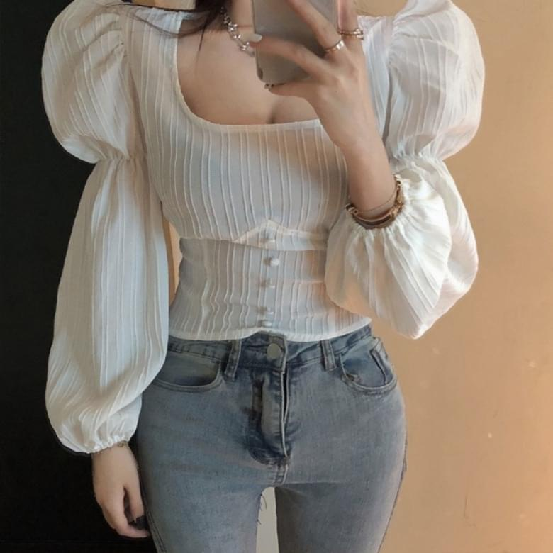 BB Square Puff Sleeve Blouse