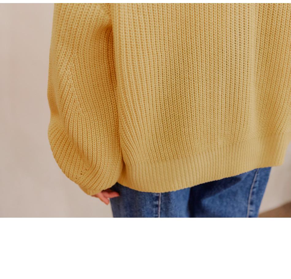 Loose V-Neck Knit Cardigan