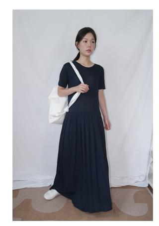 linen pleats ops 長洋裝