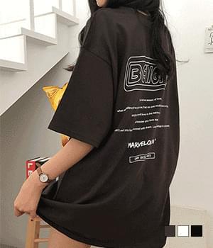 V9 back print overfit short sleeve T-shirt