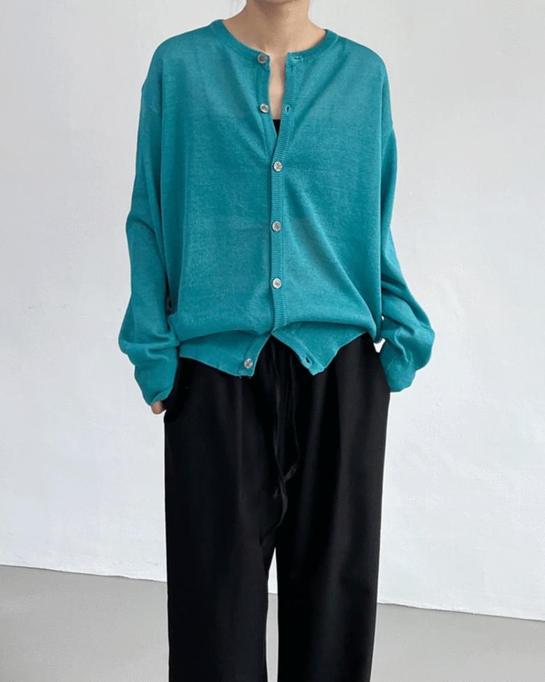 Luge Linen Round Knitwear Cardigan