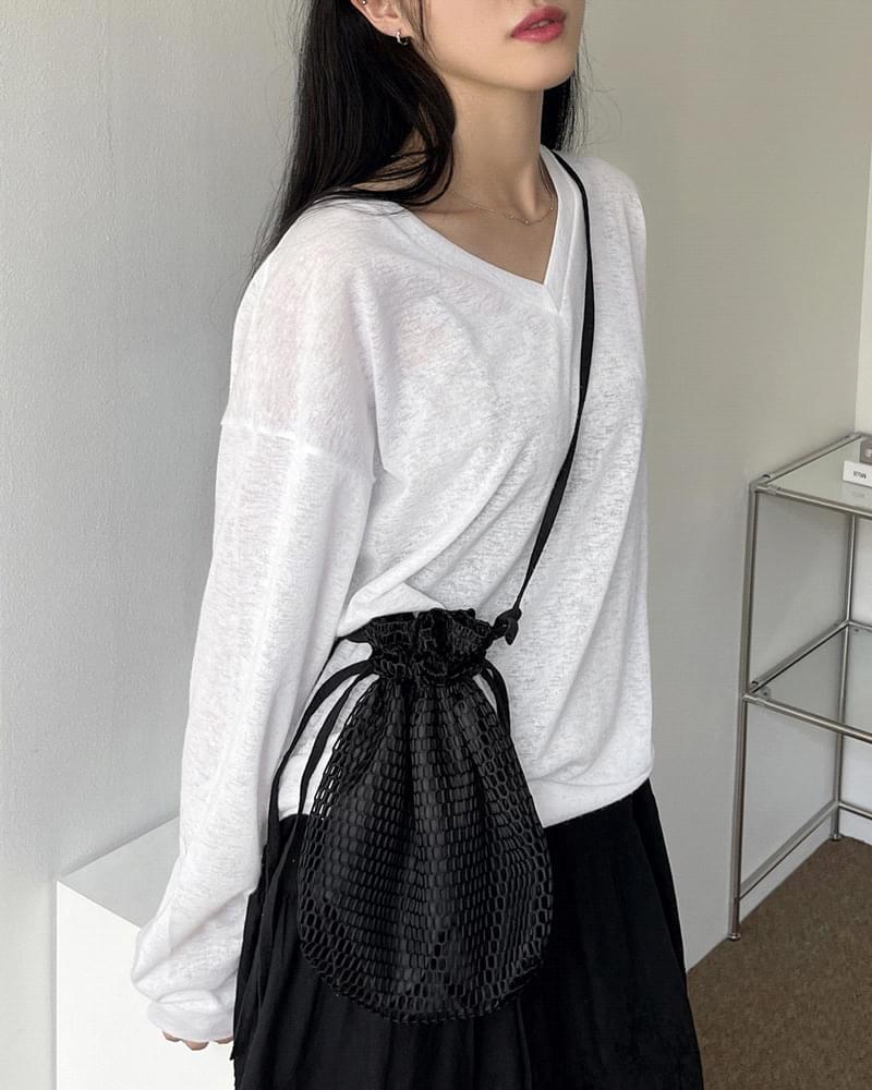 Cony V-Neck Loose-fit Summer Knitwear T-Shirt 針織衫