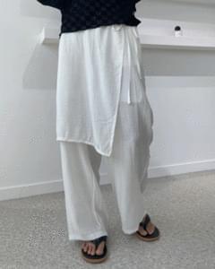 Ocean Summer Wrap Skirt Pants