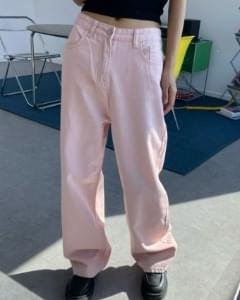 Indy Pink Cotton Wide Pants