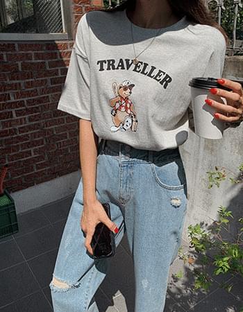 Traveler Bear Short Sleeve Tee