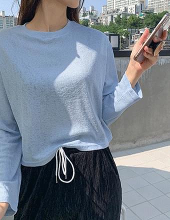 Paradis* Crop Long Sleeve T-shirt
