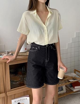 Furby*Linen Short Sleeve Shirt