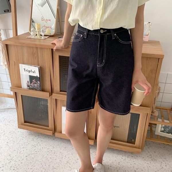 Lionin* anti-dye Raw denim pants 短褲