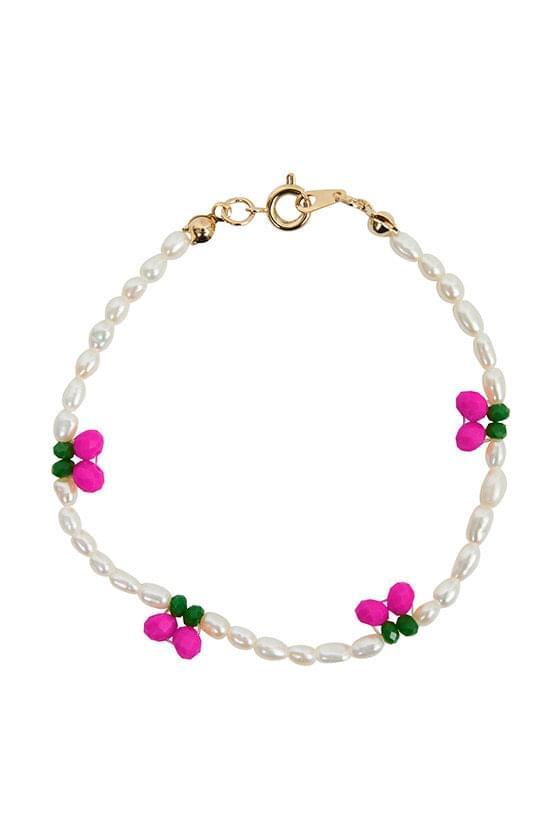 cherry pearl bracelet