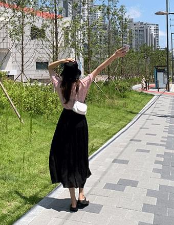 Cardi*Linen Long Cancance Skirt