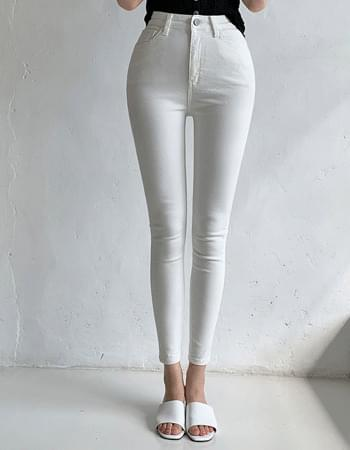 Knit Life Fit High Waist Banding Cotton Skinny