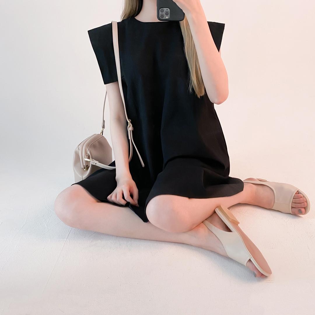 Shoulder Overlay Shift Dress