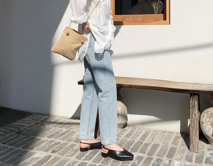 Buckle stiletto sling back_C