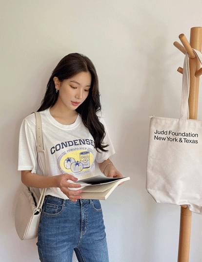 condense print short sleeve T-shirt
