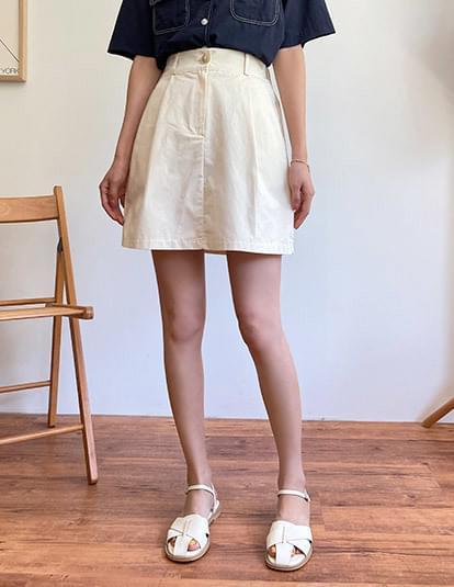 2L Pintuck Banding Mini Skirt