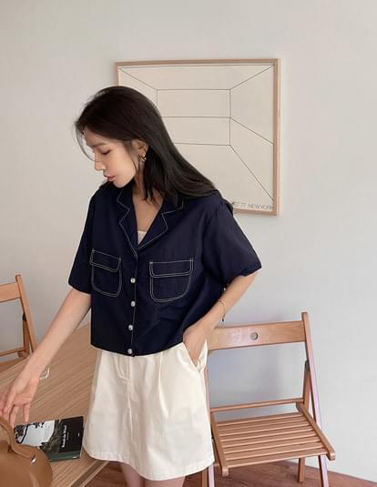 boel nylon stitch shirt