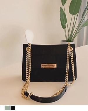 York gold chain cross-shoulder bag