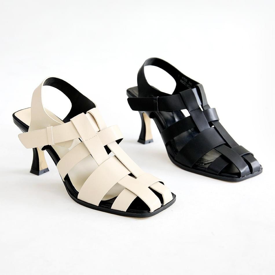 Caviar Slingback Sandals 8cm